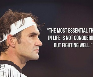 federer, fight, and life image