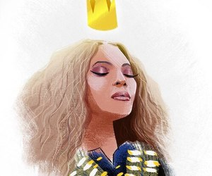 beyoncé, drawing, and queen bey image