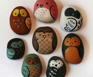owl, rock, and stone image
