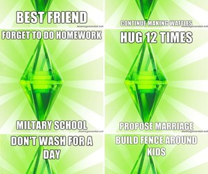funny, lol, and sims image