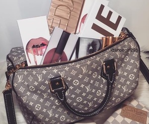 bag, girl, and house image