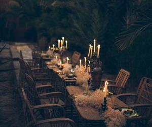 candles, setting, and table image