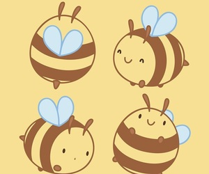 bees, patterns, and cute image