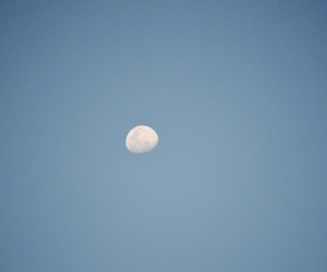 blue, moon, and light image