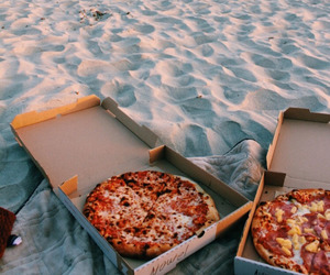 pizza, romantic, and love image