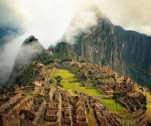 peru, machu picchu, and mountains image