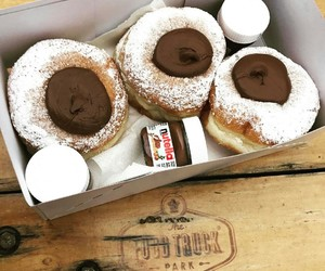 chocolate, donuts, and doughnuts image