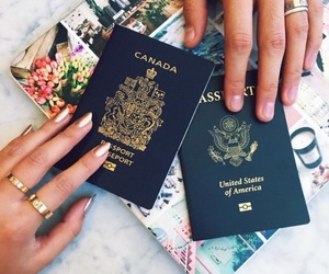 girl, travel, and hands image