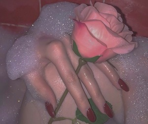 bath, rose, and hipster image