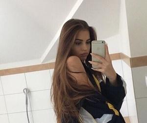 girl, hair, and selfie image