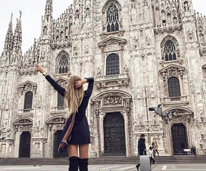 adventure, architecture, and black dress image