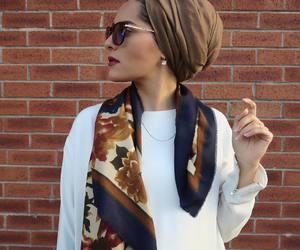 hijab, fashion, and turban image