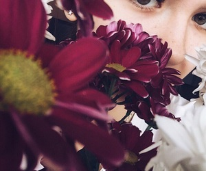 eye, nature, and flowers image