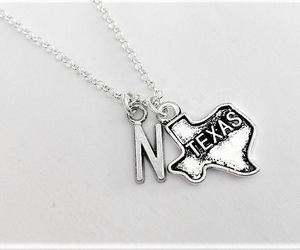 etsy, no matter where, and initial necklace image