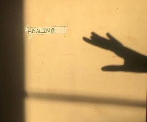 healing, shadow, and hand image