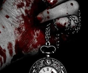 blood, time, and clock image
