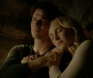 the vampire diaries, damon salvatore, and caroline image