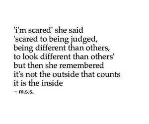quote, saying, and scared image