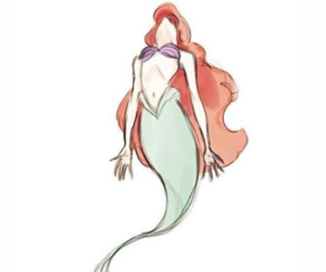 ariel, disney, and fable image
