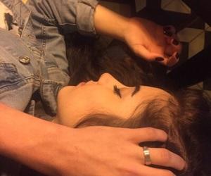 beige, couples, and dark image