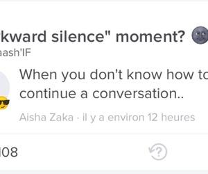 always, awkward, and conversation image