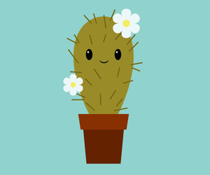 cactus, illustration, and plants image