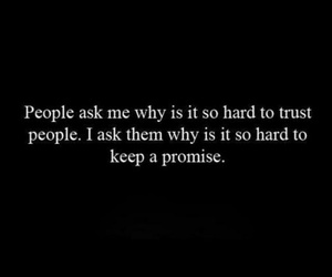 promise, trust, and quote image