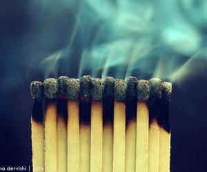 smoke, photography, and match image