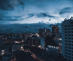 city, clouds, and night image