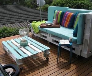 pallet sofa ideas, unique ideas, and pallet table ideas image