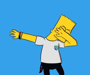 wallpaper, simpsons, and dab image