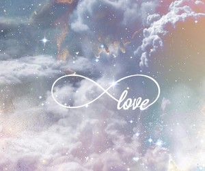 love, infinity, and galaxy image