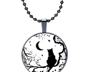 cat, moon, and necklace image