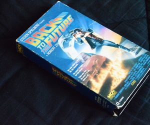 Back to the Future, film, and vhs image