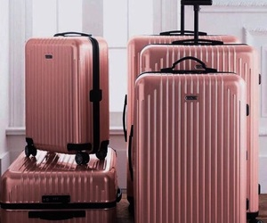 rose gold, pink, and travel image