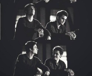 tvd, stefan, and damon image