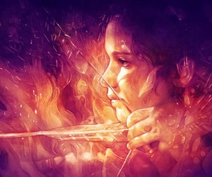 the hunger games, art, and katniss everdeen image
