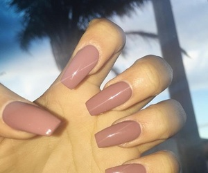 basic, long nails, and matte image