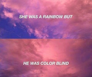 rainbow, quote, and sky image