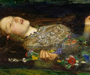 ophelia, art, and John Everett Millais image