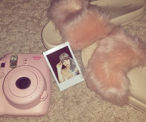 makeup, slippers, and pink image