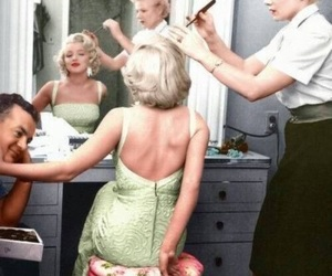 Marilyn Monroe, black and white, and vintage image