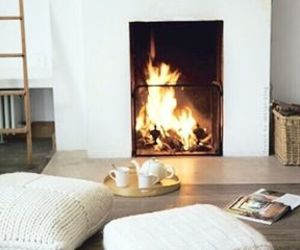 fire, home, and winter image