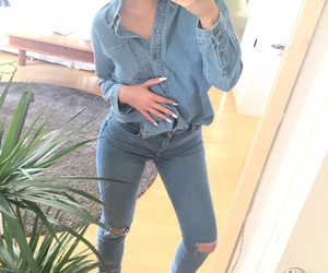 denim, fashion, and nails image