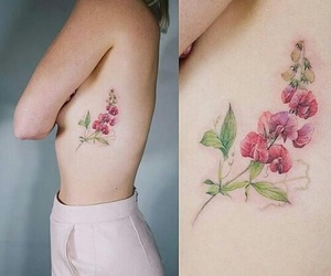flower, girls, and Tattoos image