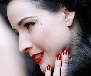 Dita von Teese, red lips, and red nails image