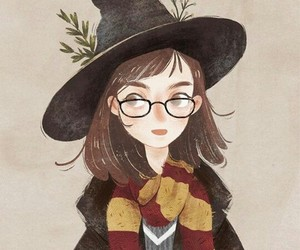 art, girl, and harrypotter image