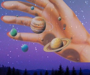 aesthetic, background, and planets image
