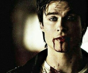 damon salvatore, ian somerhalder, and tvd image