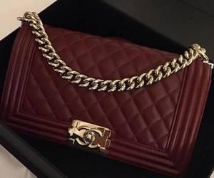 chanel, bag, and burgundy image